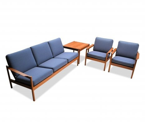 Vintage Danish design Kai Kristiansen teak seating group