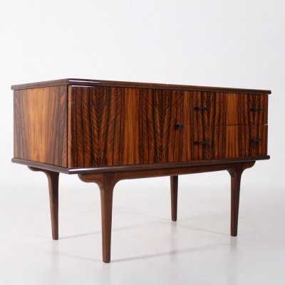 Small varnished rosewood sideboard, 1960's