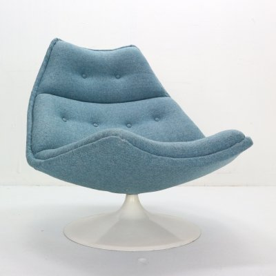 Geoffrey Harcourt Swivel Lounge Chair F511 for Artifort, Netherlands 1960s