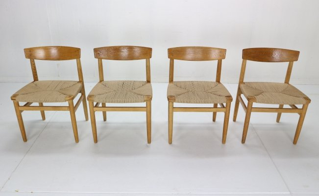 Børge Mogensen 'Model-537 Øresund' set of 4 Dining Chairs in oak for Karl Andersson