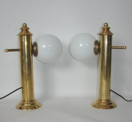 Pair of table lamps, 1960s