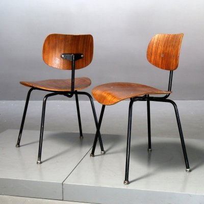 Pair of SE 68 Chairs by Egon Eiermann for Wilde+Spieth, 1960s