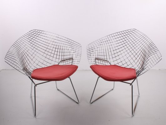Harry Bertoia Vintage Design Diamond Model 421 Wire chair by Knoll, 1980s