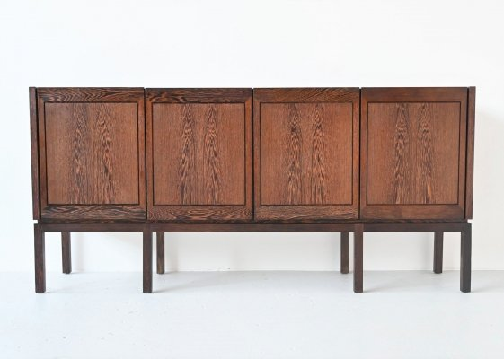 Swedish symmetric wenge wood sideboard by Royal Board, Sweden 1960