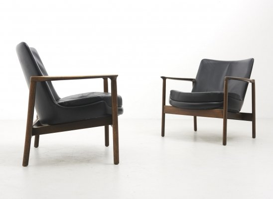 Pair of Easy Chairs by Ib Kofod-Larsen for Fröscher, Germany 1974