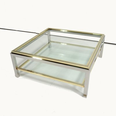 Vintage coffee table 'Linea Flaminia' by Willy Rizzo, Signed 1970s