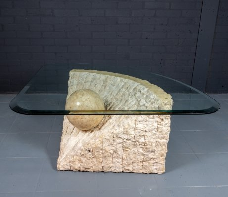 Stone Coffee Table by Magnussen Ponte, 1980s