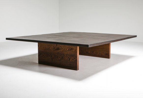 Axel Vervoordt Wenge & Bamboo Coffee Table, 1980's