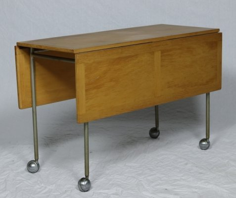 Bruno Mathsson Model T702 Folding Table on Casters, 1962
