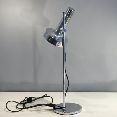 Adjustable chrome desk lamp, 1960s