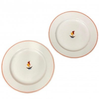 Two Art Deco Ceramic Plates by Gio Ponti for Richard Ginori