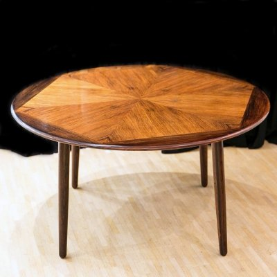 Rosewood coffee table by Henry W. Klein for Bramin, 1960's