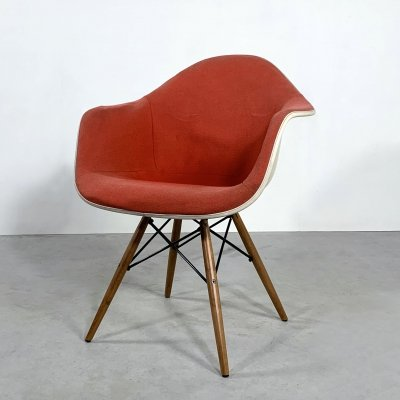 Red DAX Armchair by Charles & Ray Eames for Herman Miller, 1970s
