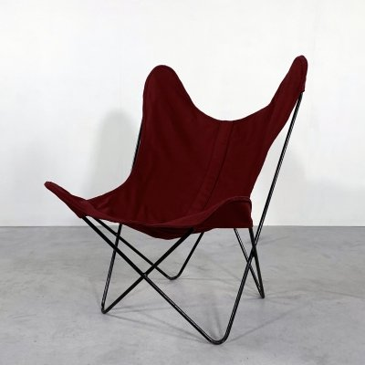 Red Butterfly lounge chair by Jorge Ferrari Hardoy for Knoll, 1970s