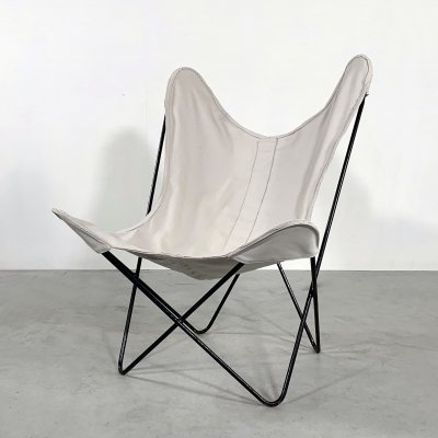 Beige Butterfly lounge chair by Jorge Ferrari Hardoy for Knoll, 1970s