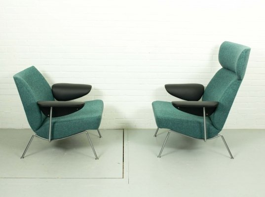 Set Mid Century Lounge Chairs by Theo Ruth for Wagemans & van Tuinen