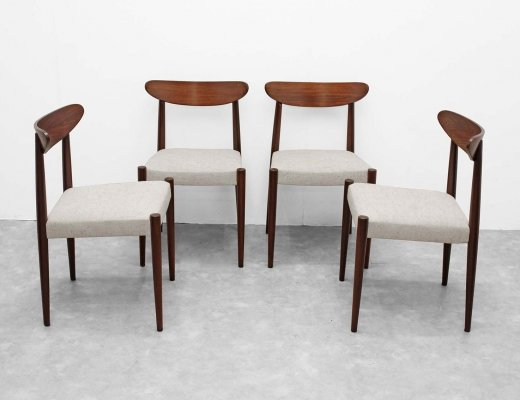 4 chairs in brazilian rosewood by Oswald Vermaercke
