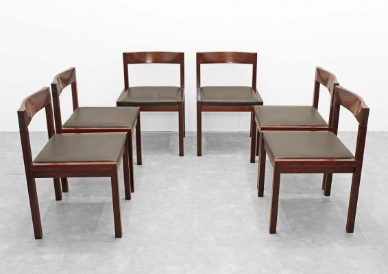 Set of 6 dining chairs by Alfred Hendrickx for Belform, 1960s