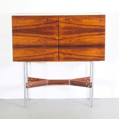 Rudolf B. Glatzel for Fristho rosewood bar cabinet, Holland 1956