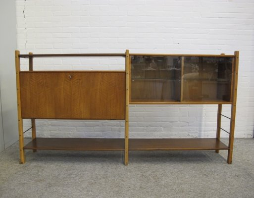 Vintage William Watting Walnut Wall Rack by Fristho Franeker, 1960