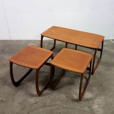 Mid century teak nesting tables by Nathan furniture, England 1960s