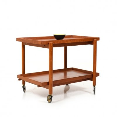 Service Trolley in Teak by Poul Hundevad for Domus Danica, 1960s