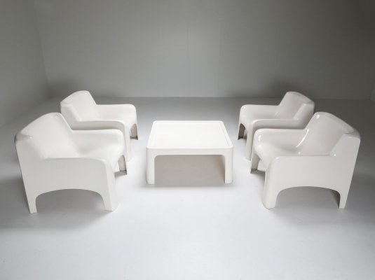 Arflex 'Solar' Lounge set in Fiberglass by Carlo Bartoli, 1960's