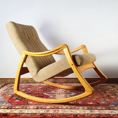 Bentwood rocking chair by TON, 1960s