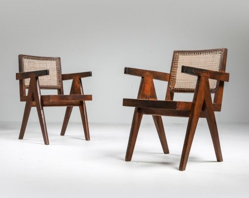Set of Jeanneret 'King' chairs, Chandigarh 1960's