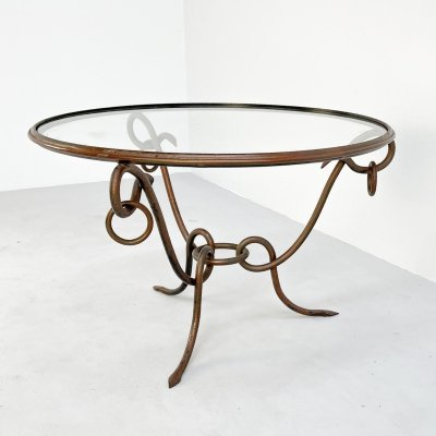 Original coffee table by René Drouet, 1940s