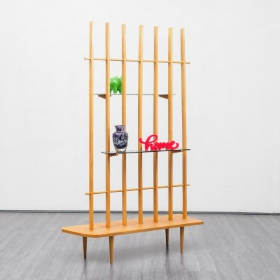 Mid Century room divider with shelves, 1950s