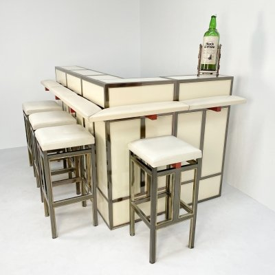 Luxurious Belgo Chrom Bar, 1980s