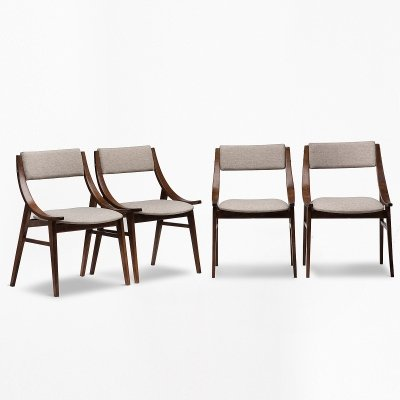 Set of 4 Skoczek chairs by Juliusz Kędziorek, 1960s