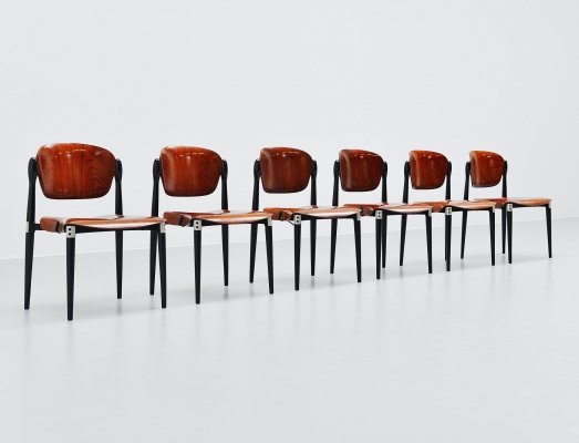 Set of 6 'S83' chairs by Eugenio Gerli for Tecno, Italy 1962