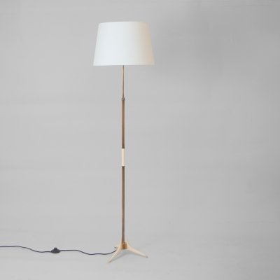 German 1950s Floor Lamp