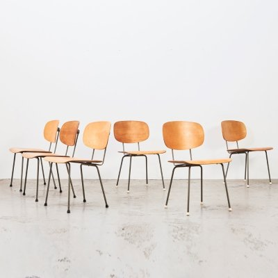 Wim Rietveld set of 6 Dining Chairs 116 for Gispen, 1953