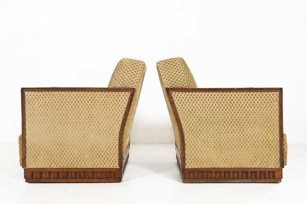 Set of two Art Deco armchairs, 1930s