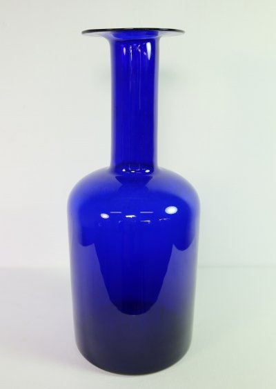 Largest blue gul vase by Otto Brauer, 1960s