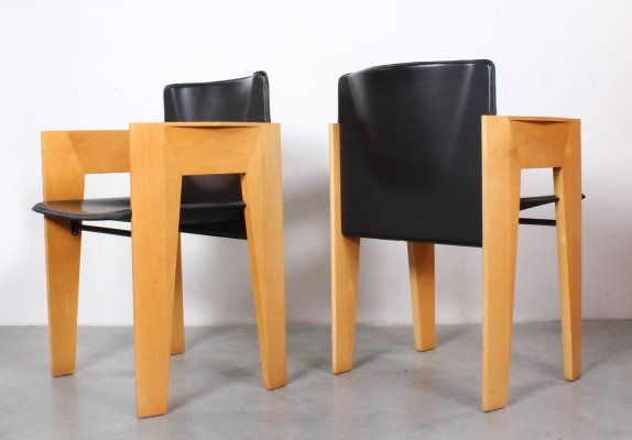 Set of 4 dining chairs by Arnold Merckx for Arco, 1980s