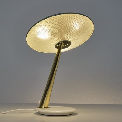 Rare desk lamp by Giuseppe Ostuni for Oluce, 1950