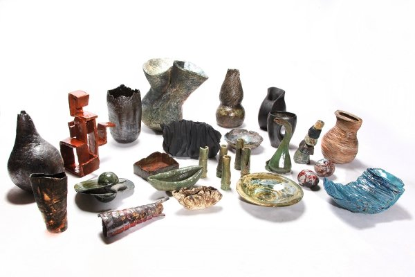 Large Collection of Ceramics Sculptures signed with NB, 1990s