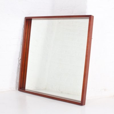 Large rosewood mirror by Alfred Hendrickx for Belform, 1960's