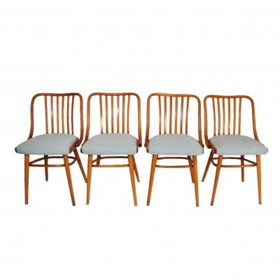 Set of 4 Thonet Ligna dining chairs, 1950s