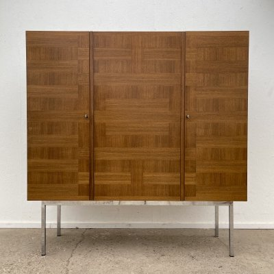 Vintage highboard with teak & chrome by Arthur Traulsen for WK Möbel, 1960s