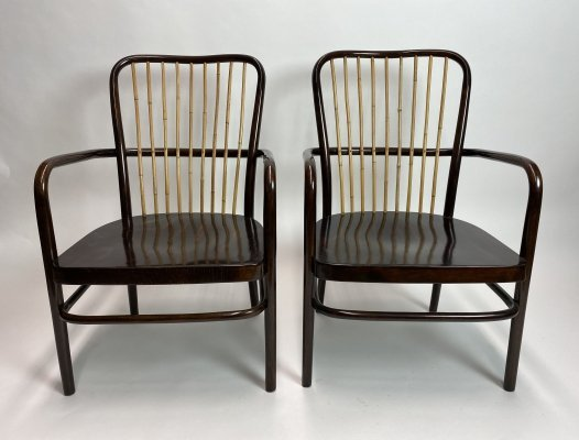 Pair of extraordinary armchairs model A413F by Josef Frank for Thonet-Mundus