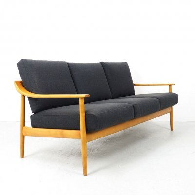 Wilhelm Knoll organic shaped 3 seater sofa, 1960's