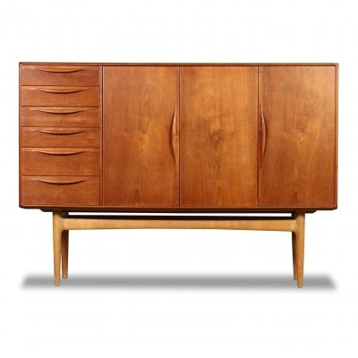 Vintage Danish design Henry Rosengren teak highboard