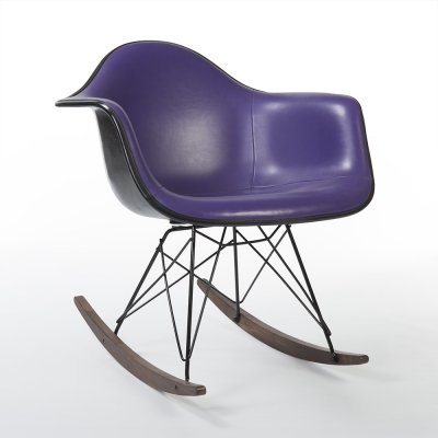 Purple Vinyl Herman Miller Original Vintage Eames RAR Rocking Arm Chair
