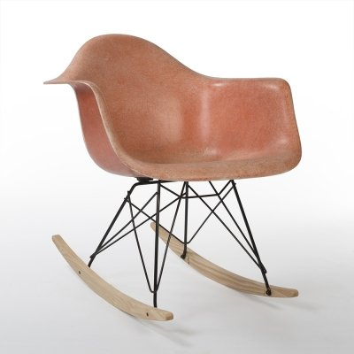 Orange Herman Miller Original Vintage Eames RAR Rocking Arm Chair