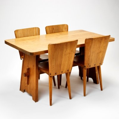 Five-piece dining set by Göran Malmvall for Karl Andersson & Söner, Sweden 1950